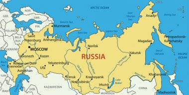Russia - vector map