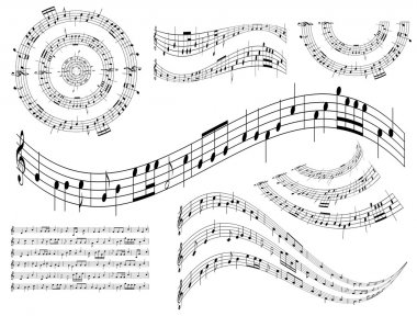 Musical abstract design elements - vector set