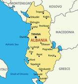 Republic of Albania - vector map