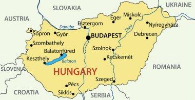 Hungary - vector map