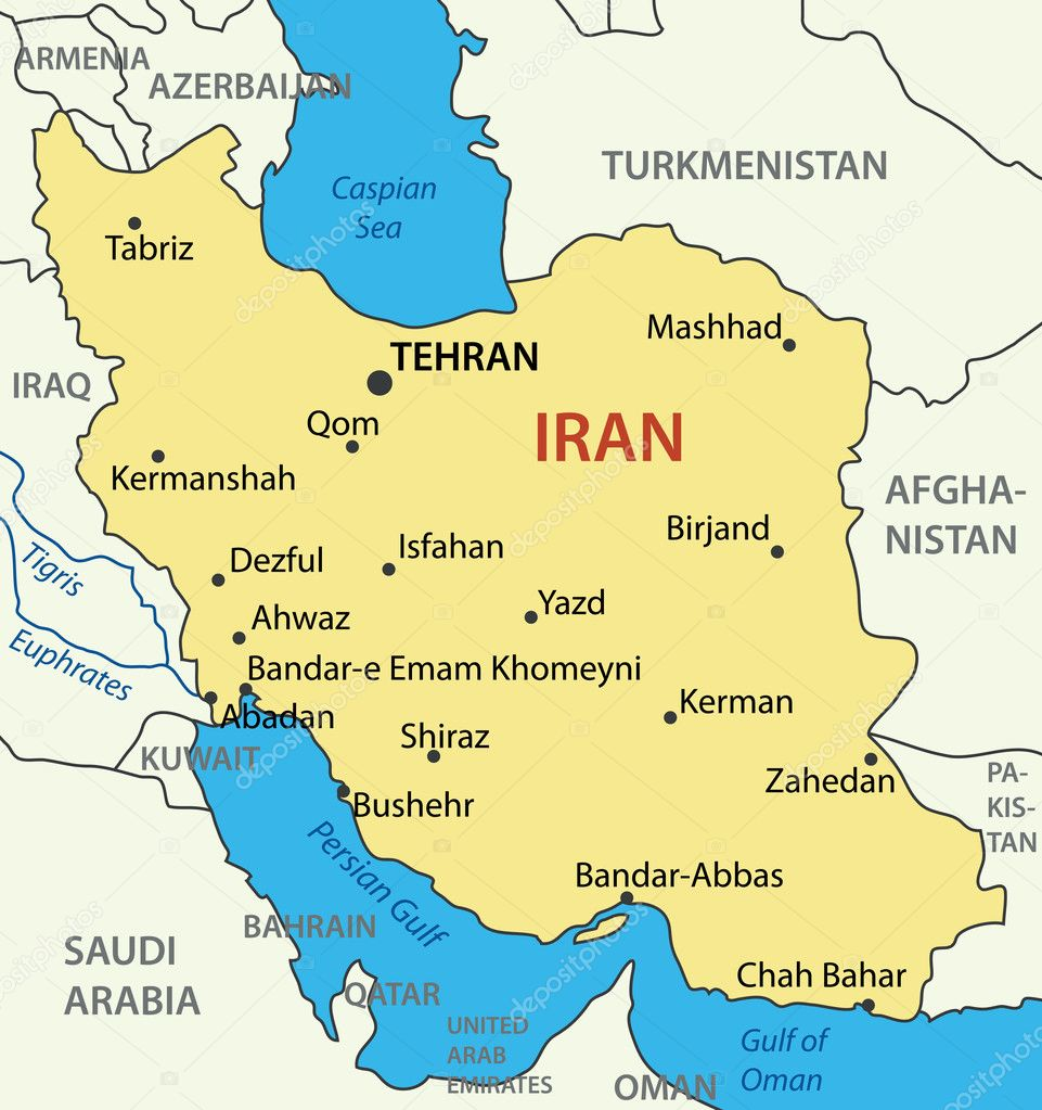 Islamic Republic of Iran vector map Stock Vector pavalena 9195066