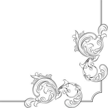 Baroque corner elements