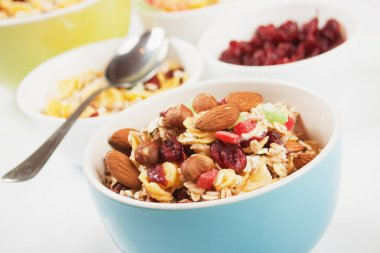 Cereal muesli with dried fruit