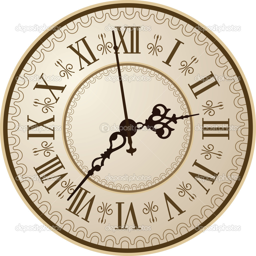 Antique clock stock vector vtorous 10225215 - Maison du monde relojes ...
