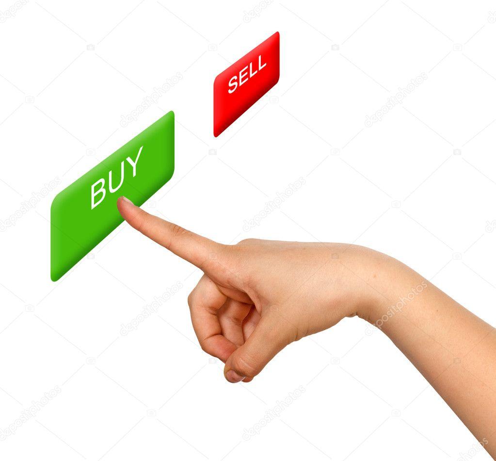 c3656aea2f1d Девушка нажав кнопку Купить — Стоковое фото © vaeenma  8240385