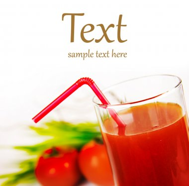 A glass of fresh tomato juice