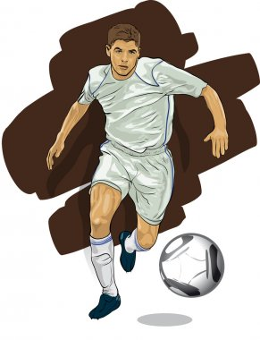 Leading player with the ball