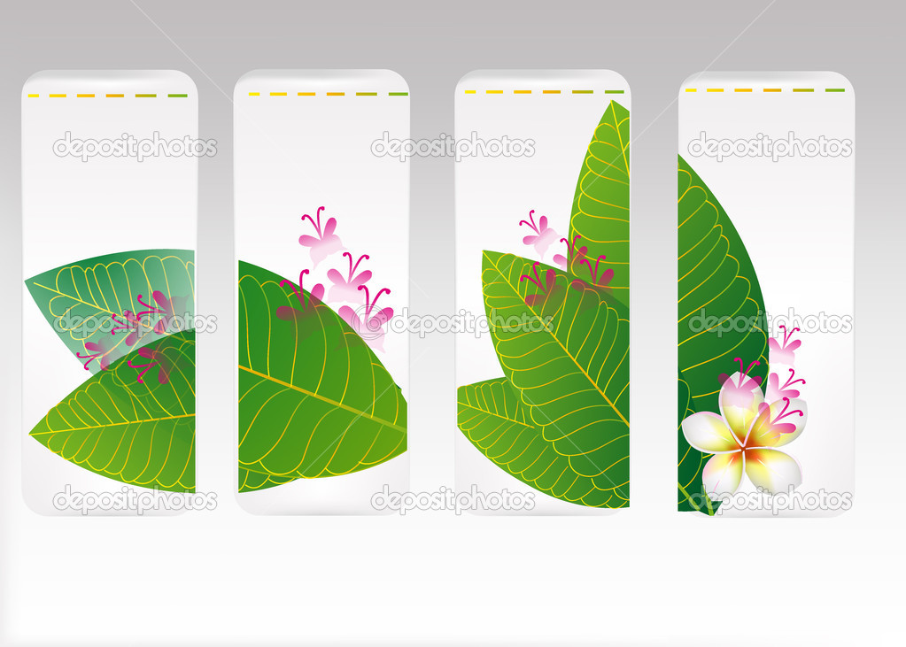 Set of banners with eco concept