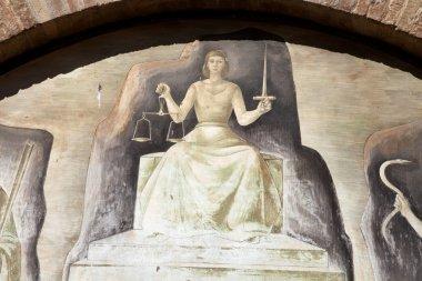 Themis - divine justice in San Gimignano,