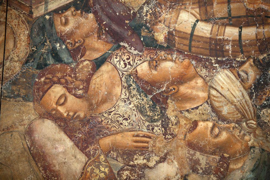 Pisa, Camposanto, The Triumph of Death, detail, fresco,alma — stock photo