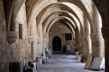 Rhodes - the medieval building of the Hospital of the Knights.