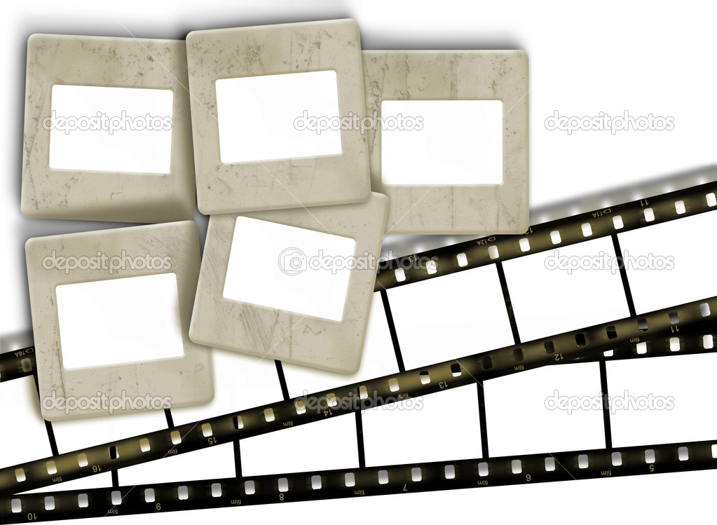 rayas Vintage película en blanco y en blanco antiguo Porta marcos de ...