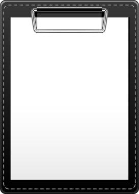 Clipboard over white. EPS 10, AI, JPEG stock vector