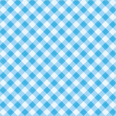 Blue gingham fabric cloth, seamless pattern included