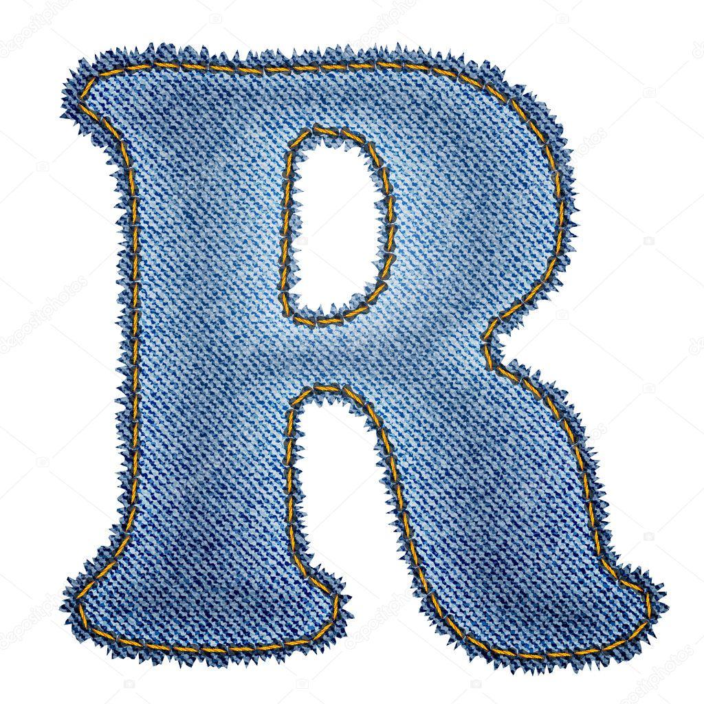 R Alphabet Images Jeans alphabet....