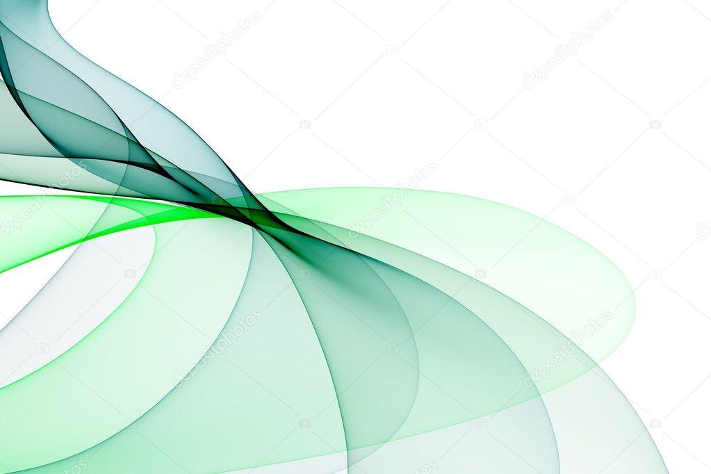 Fondo Blanco Con Verde: Ondas Suaves De Tonos De Verde Sobre Fondo Blanco