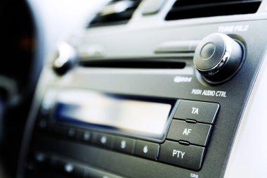 Control panel of audio player