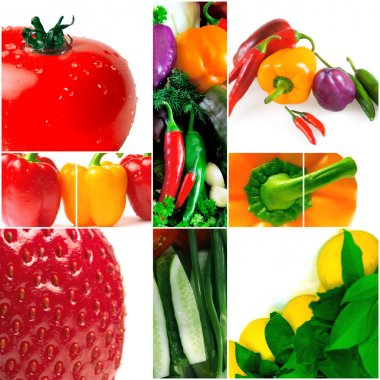 Bright and colorful fruit and vegetables