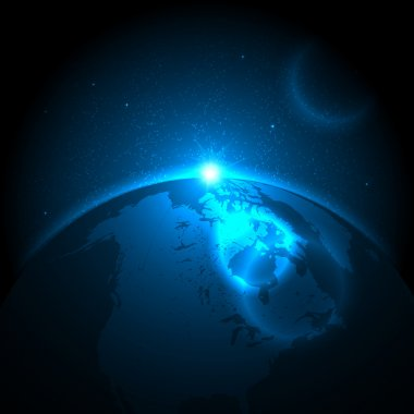 Space and Earth Background