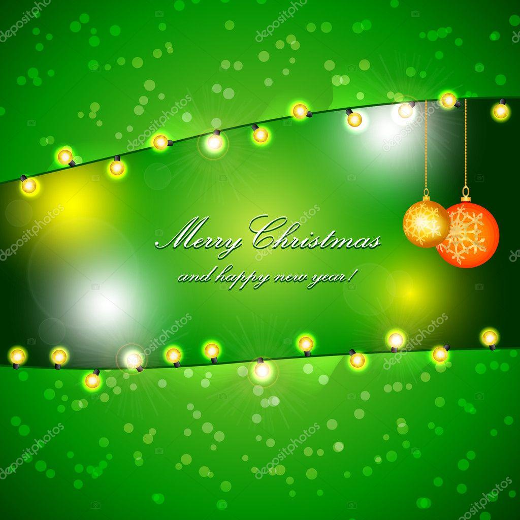 diseño del vector en unas vacaciones de Navidad — Vector de stock ...