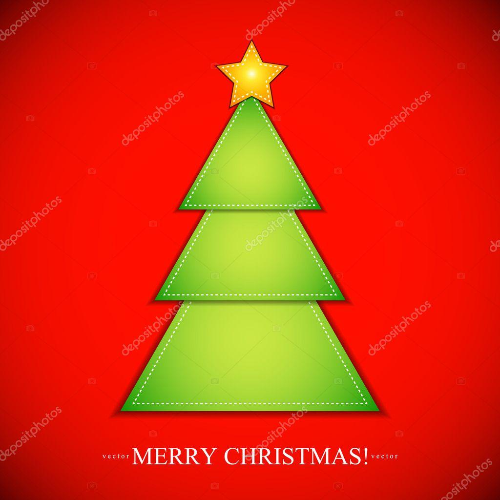 Tagliare La Carta A Forma Di Albero Di Natale Con Stelle