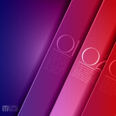 Design template - graphic or website layout vector - purple to red