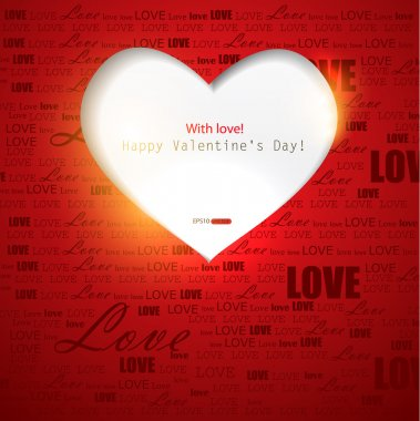 Gift card. Valentine's Day. Vector background stock vector