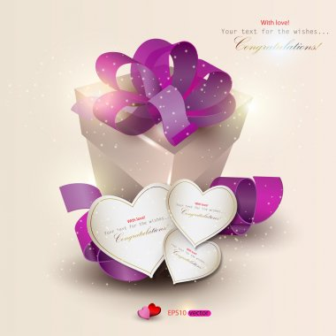 Elegant background with gift and gift cards. Vector illustration clip art vector
