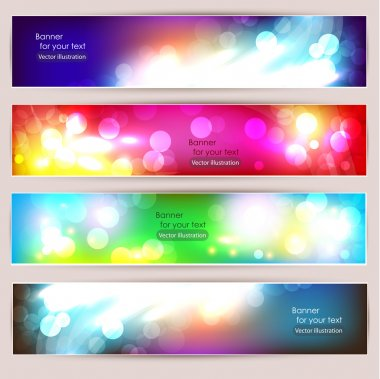 Vector Abstract Banner Set