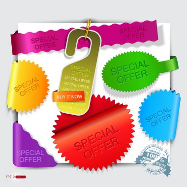 Vector stickers and bookmarks