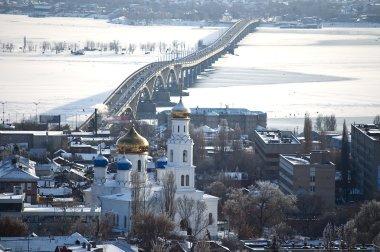 The Volga River. City of Saratov.