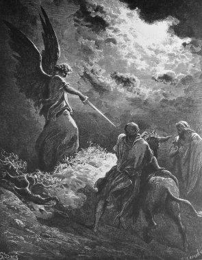Balaam and his donkey.