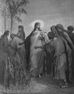 Jesus and the Pharisees.