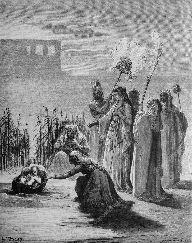Image result for gustave dore Pharaoh's daughter