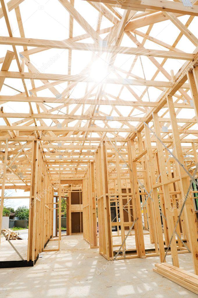 nueva estructura de construcción de viviendas — Foto de stock ...