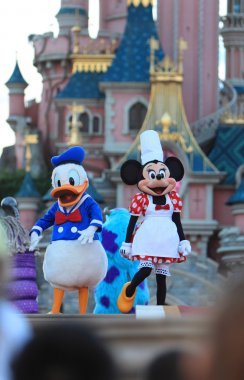 Minnie Mouse and Donald Duck