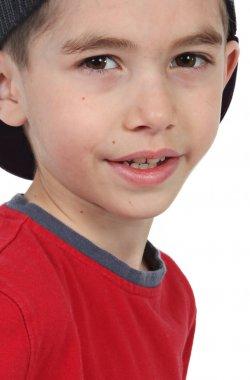 Cute little boy posing for camera