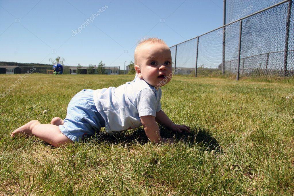 Crawling At the Park
