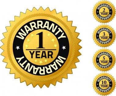 Warranty 1 year Quality Guarantee Badges