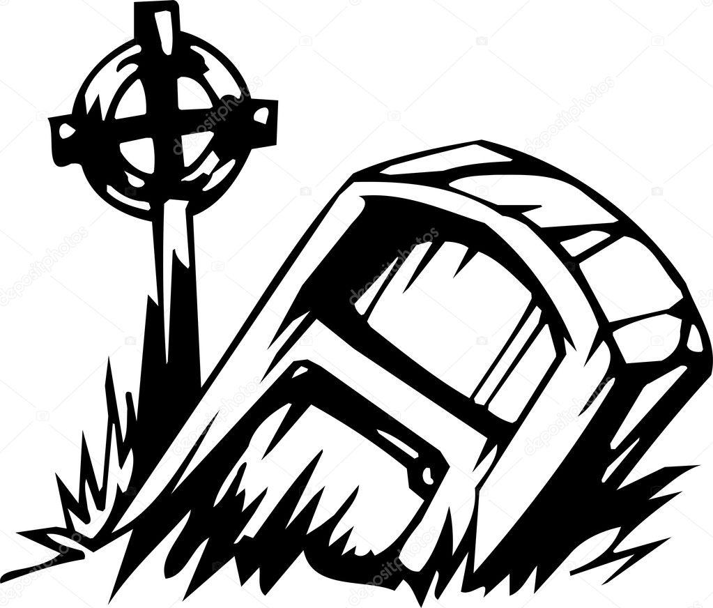 Grave - Halloween Set - vector illustration — Stock Vector ...