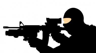 Soldier with a gun