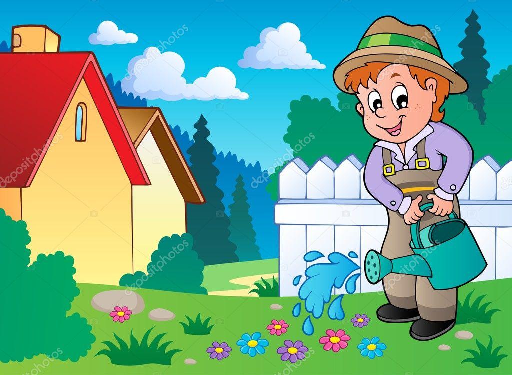 Картинка садовника для детсада, новым годом