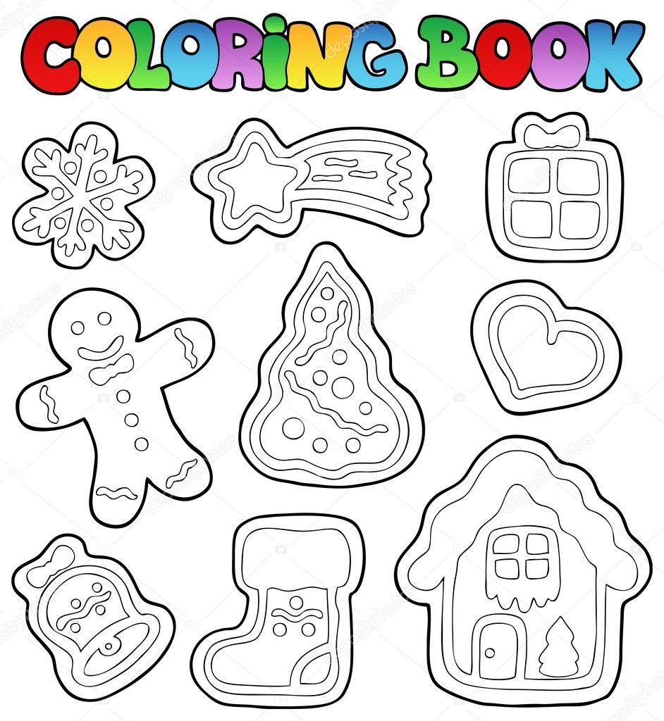 jengibre 1 de libro para colorear — Vector de stock © clairev #8153743