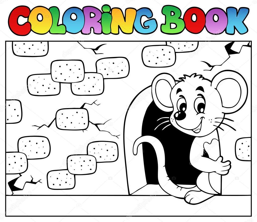 libro de colorear con ratón 3 — Archivo Imágenes Vectoriales ...