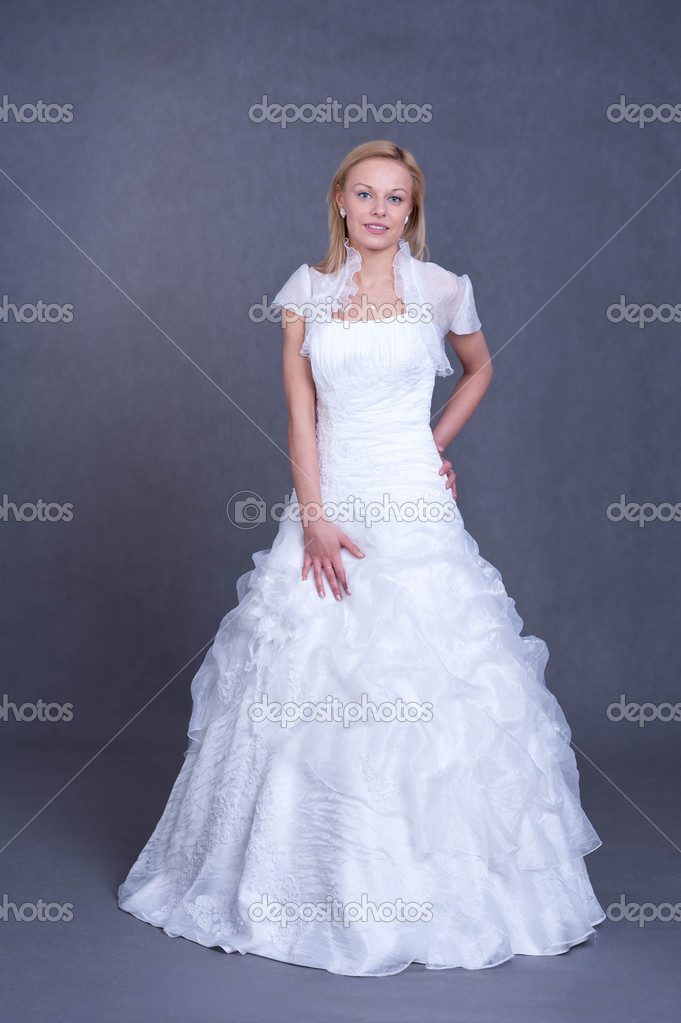 Young bride in wedding dress — Stock Photo © rlat28 #9165902