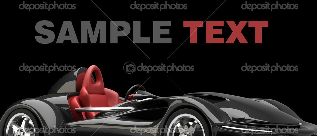 Sports Car Road Star Isolated On Black 3d Render No Trademark