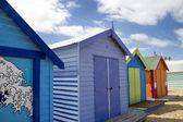 Koupání krabice na brighton beach vedle melbourne, Austrálie