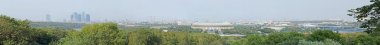 Panorama of Moscow in Vorobyovy Gory