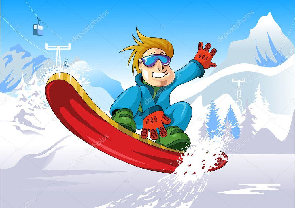 Snowboard up