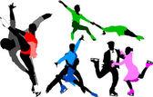 Fotografie Eiskunstlauf-Silhouette-Farbe
